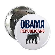 """Republicans for Obama 2.25"""" Button"""