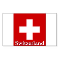 Swiss Cross-2 Rectangle Sticker 50 pk)