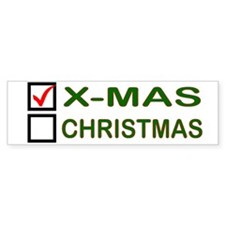 X-MAS Checkbox Bumper Bumper Sticker
