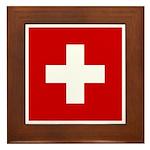 Swiss Cross-1 Framed Tile