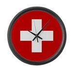 Swiss Cross-1 Large Wall Clock