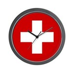 Swiss Cross-1 Wall Clock