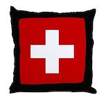 Swiss Cross-1 Throw Pillow
