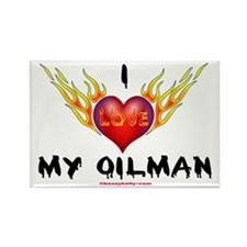 I Love My Oilman Rectangle Magnet