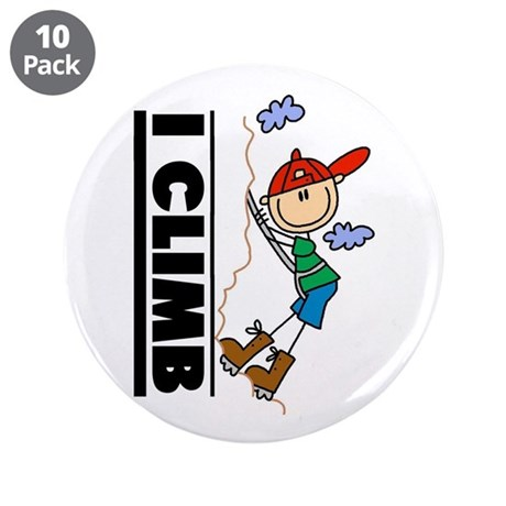"Mountain Climbing 3.5"" Button (10 pack)"