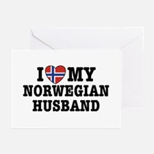 I Love My Norwegian Husband Greeting Cards (Pk of