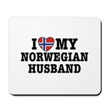 I Love My Norwegian Husband Mousepad