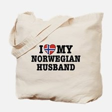 I Love My Norwegian Husband Tote Bag