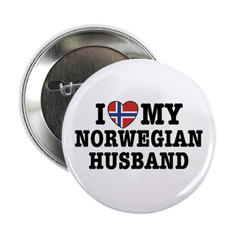 "I Love My Norwegian Husband 2.25"" Button"