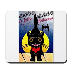 Black Cat Halloween Mousepad