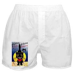 Black Cat Halloween Boxer Shorts