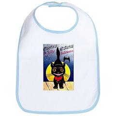Black Cat Halloween Bib