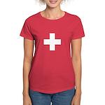 Swiss Cross-1 Women's Dark T-Shirt