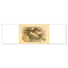 Flying Witch Bumper Sticker (50 pk)