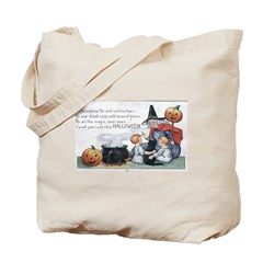 Witch & Cauldron Tote Bag