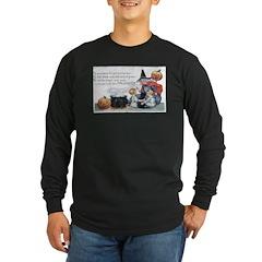 Witch & Cauldron Long Sleeve Dark T-Shirt