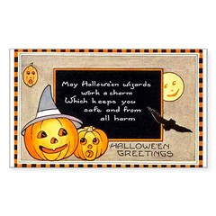 Halloween Wizards Rectangle Decal