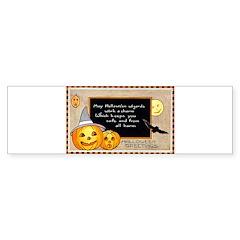 Halloween Wizards Bumper Bumper Sticker