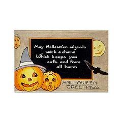 Halloween Wizards Rectangle Magnet