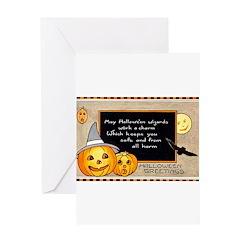 Halloween Wizards Greeting Card