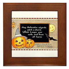 Halloween Wizards Framed Tile