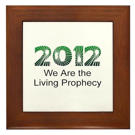 2012 Living Prophecy Framed Tile
