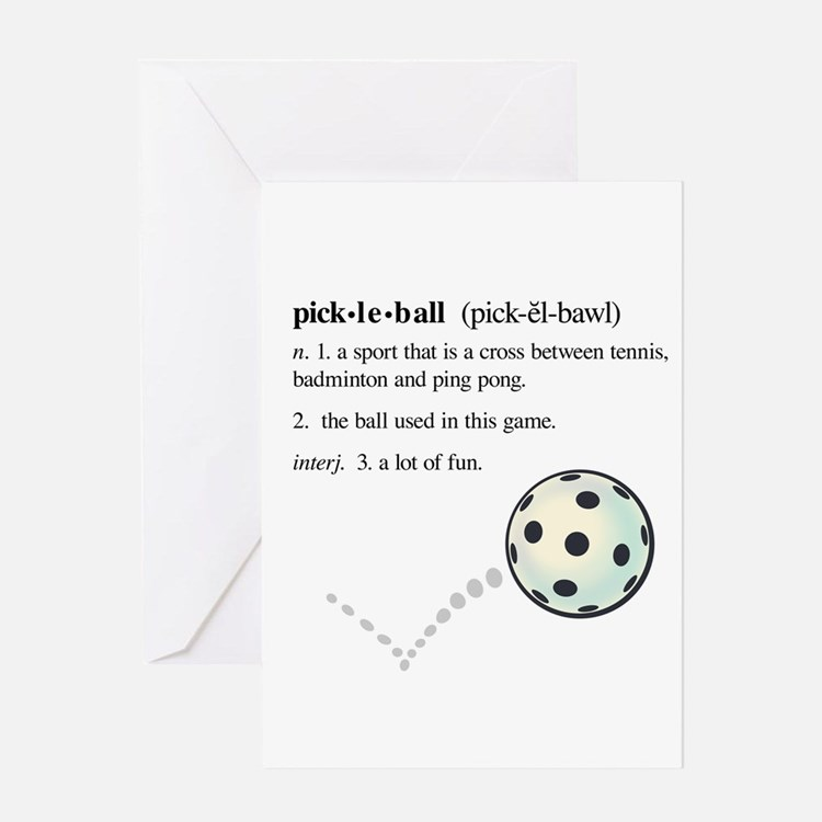 Pickleball Stationery | Cards, Invitations, Greeting Cards ...