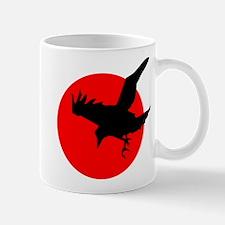 Raven in Blood Red Sun Mug