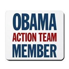 Obama Action Team Member Mousepad