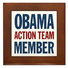 Obama Action Team Member Framed Tile