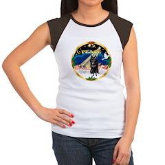 XmasSunrise/Schipperke Women's Cap Sleeve T-Shirt