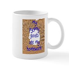 Pygmy Goats Ate My Homework Small Mugs