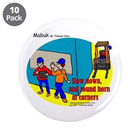 "Forklift Safety 3.5"" Button (10 pack)"