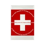 Swiss Cross/Peace Rectangle Magnet (10 pack)
