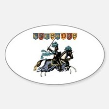Crusades Oval Decal