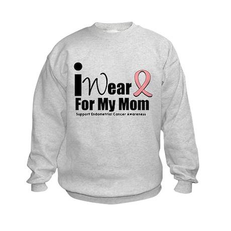 Endometrial/Uterine Cancer Kids Sweatshirt