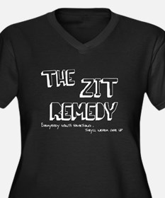 Zit Remedy Women's Plus Size V-Neck Dark T-Shirt