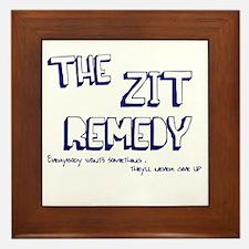 Zit Remedy Framed Tile