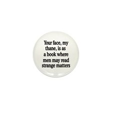 Book Face Mini Button (10 pack)