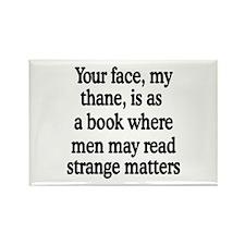 Book Face Rectangle Magnet