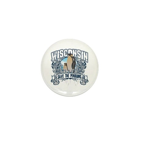Save the Penguin Wisconsin Mini Button (10 pack)