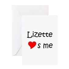Cool Lizette Greeting Card