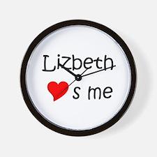 Funny Lizbeth Wall Clock