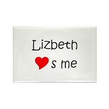 Lizbeth Rectangle Magnet