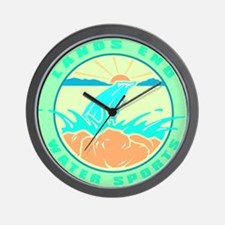 LANDS END WATER SPORTS GRAPHIC WALL CLOCK
