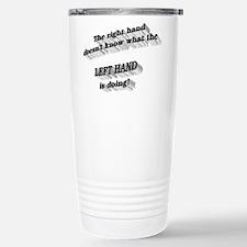 Left hand Stainless Steel Travel Mug