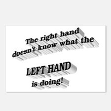 Left hand Postcards (Package of 8)