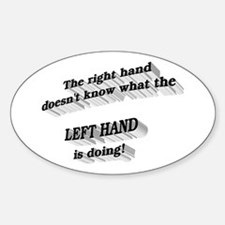 Left hand Oval Decal