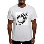 Flaming Basketball Light T-Shirt