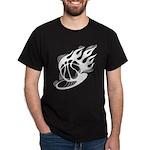Flaming Basketball Dark T-Shirt